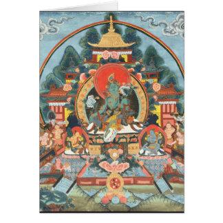 Green Tara with Om Mani Padme Hum Greeting Card