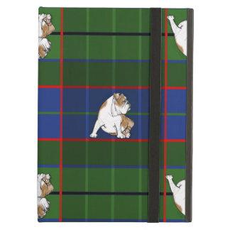 Green Tartan Bulldog iPad Air Cover