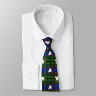 Green Tartan Bulldog Tie