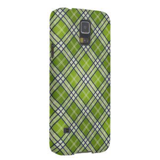 Green Tartan Case For Galaxy S5