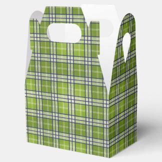 Green Tartan Favour Box