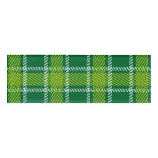 Green Tartan Name Tag