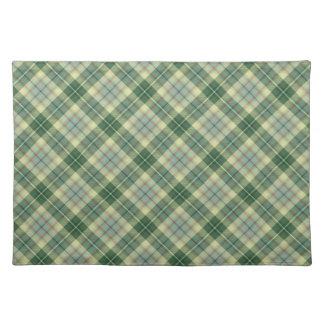 Green tartan placemat