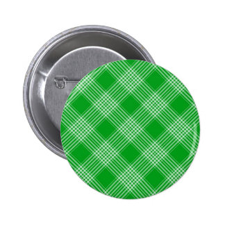 Green Tartan Plaid 6 Cm Round Badge