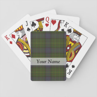 Green tartan plaid poker deck