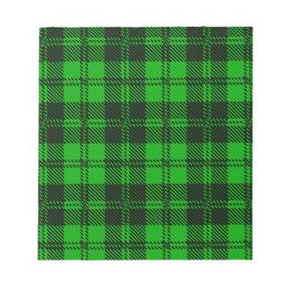 Green Tartan Wool Material Notepads