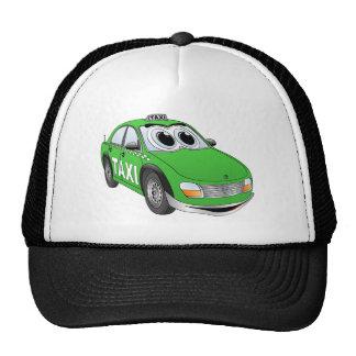 Green Taxi Cab Cartoon Cap