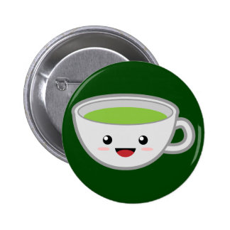 Green Tea 6 Cm Round Badge