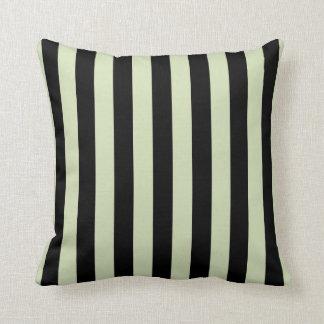 Green Tea & Black Stripes Pillow