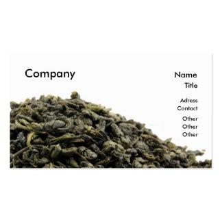 Green tea business card template