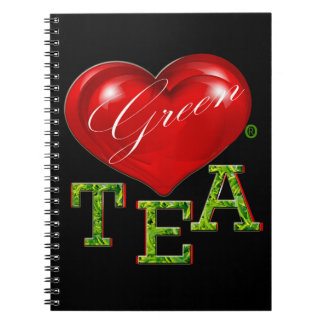 Green Tea Food Decorative Modern Notebook