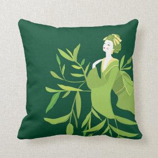 Green Tea Geisha Pillow
