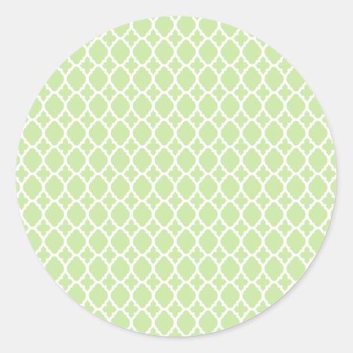 Green Tea Moroccan Tile Stickers