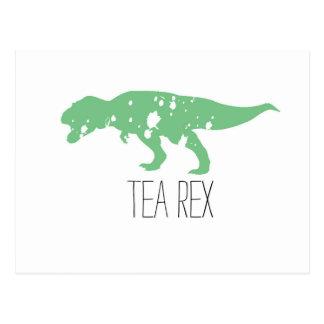 Green Tea Rex Postcard
