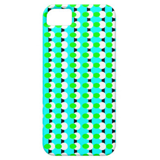 Green, Teal, and White symmetric abstract design iPhone 5 Cases