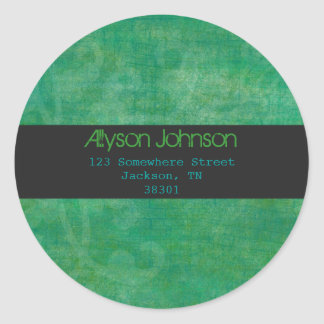 Green &Teal Background Address Labels Stickers