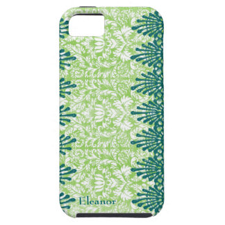 Green Teal Boho Chic Personalized iPhone 5 Cases