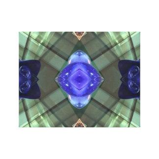 Green Teal Geometric Mod Contemporary Art Canvas Canvas Print
