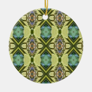 Green Teal Geometric Mod Contemporary Ornament