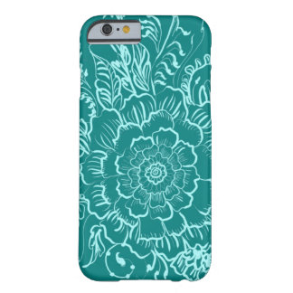 Green Teal Mandala Henna Style Phone Case Barely There iPhone 6 Case
