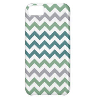 Green & Teals Chevron Pattern iPhone 5 iPhone 5C Case