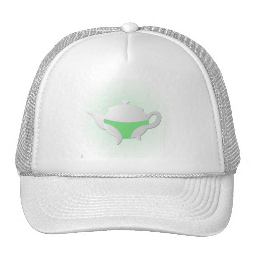 Green teapot and lingerie hats