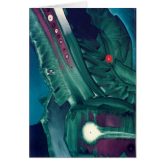 Green Tears by Gregory Gallo Greeting Card