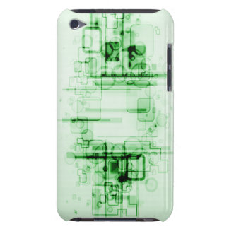 Green Tech Abstract iPod Touch Cases
