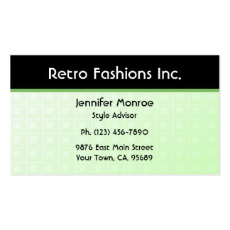 Green Tech Fashion Business Cards