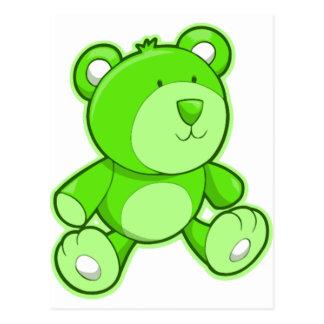 Green Teddy Bear Postcard