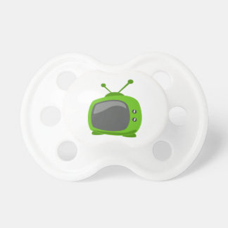 Green Television Baby Pacifiers