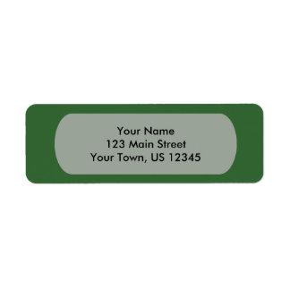 Green Template Return Address Label