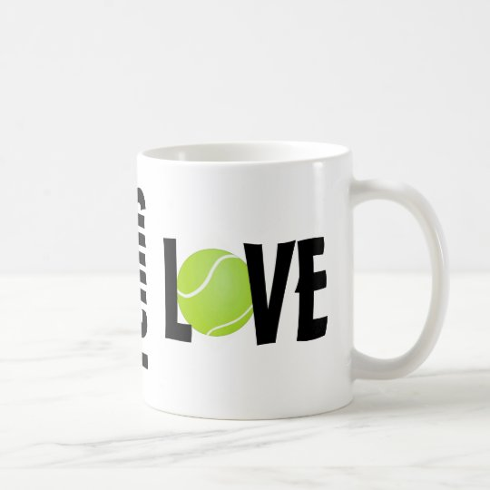 Green Tennis Ball LOVE Coffee Mug