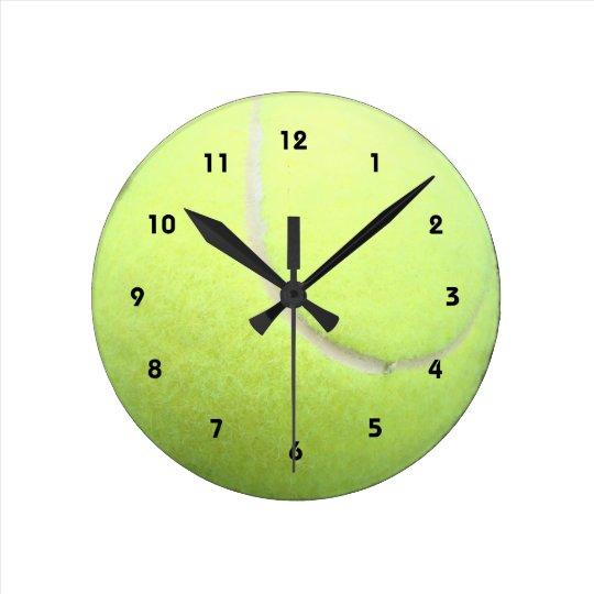 Green Tennis Ball Wall Clock