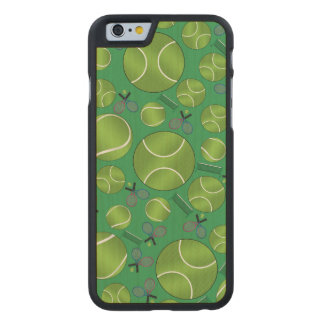 Green tennis balls rackets and nets carved® maple iPhone 6 slim case