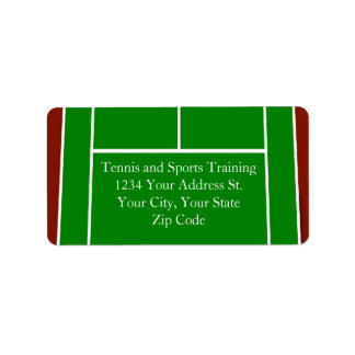 Green Tennis Court Design Label
