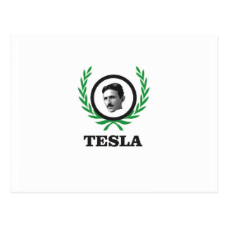 green Tesla circle Postcard