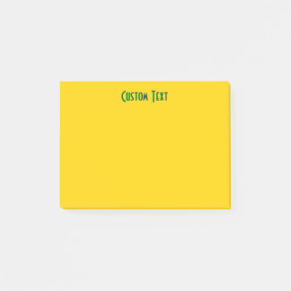 Green Text   Yellow Post-it Notes