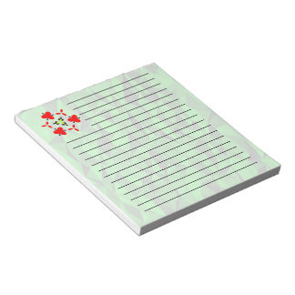Green texture pattern notepad
