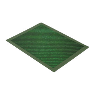 Green Texture Print Door Mat