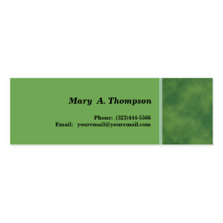 Green texture side border pack of skinny business cards