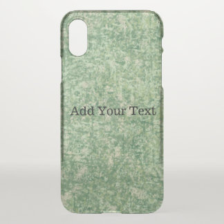 Green Textured Background by Shirley Taylor iPhone X Case