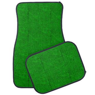 Green Textured Car Mat