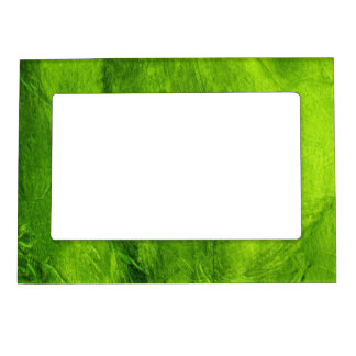 Green Textured Photo Frame Magnets