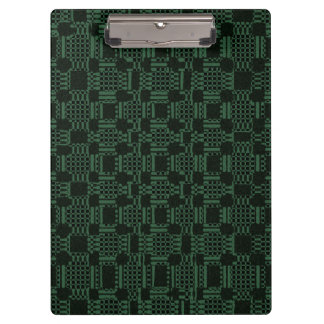 Green textured squares pattern clipboard