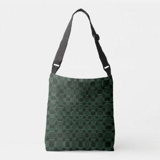 Green textured squares pattern tote bag