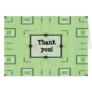 Green Thank You notecard Stationery Note Card