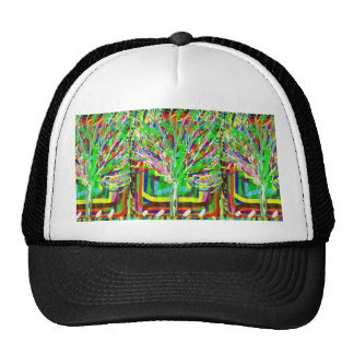 GREEN Theme Artistic Tree Show Trucker Hat