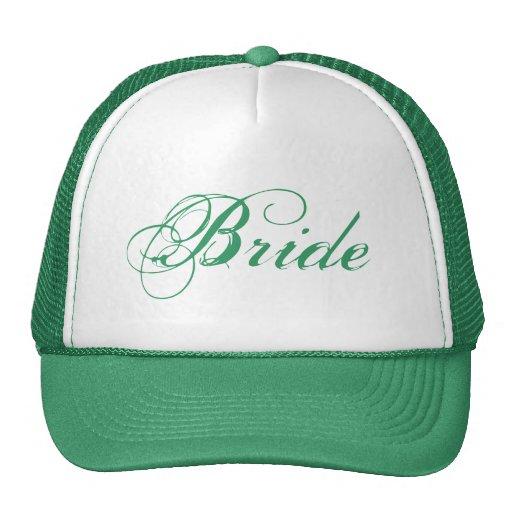 Green theme simple Bride hat