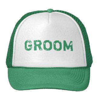 Green theme simple Groom hat